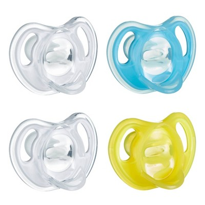 Tommee Tippee Ultra-light 4pk Silicone Baby Pacifier 6-18 Months - Blue/Yellow