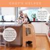 ECR4Kids Kitchen Helper Tower - Adjustable Kids Stool with Safety Rails, Natural - image 4 of 4