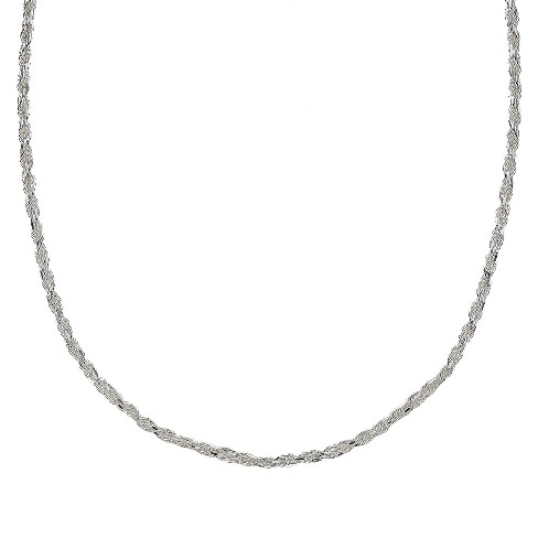 "Sterling Silver Rope Chain Necklace - Silver (24"") - image 1 of 1"