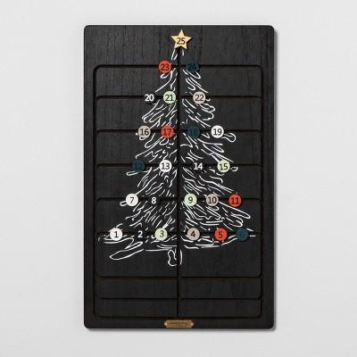 Advent Calendar Sliding Wood Tile - Black - Hearth & Hand™ with Magnolia