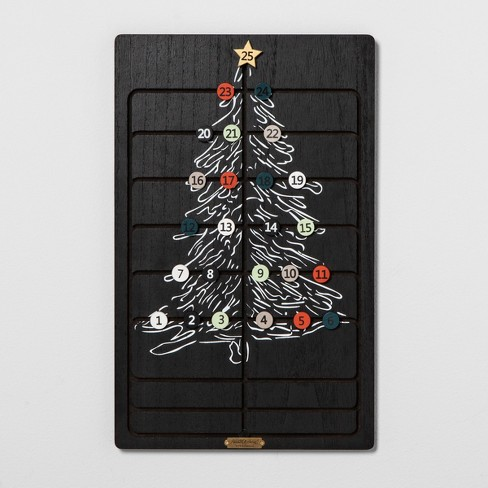 Advent Calendar Sliding Wood Tile - Black - Hearth & Hand™ with Magnolia - image 1 of 2