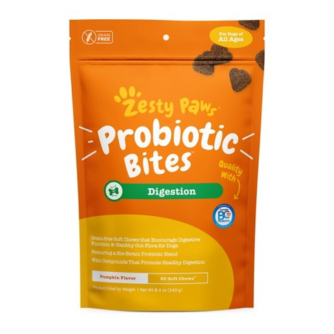 Zesty Paws Probiotic Digestion Vitamins & Supplements for Dogs – 60 ct - image 1 of 4