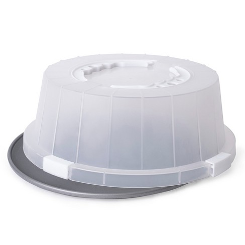 G&S Metal Covered Cake and Pastry Carrier - image 1 of 4