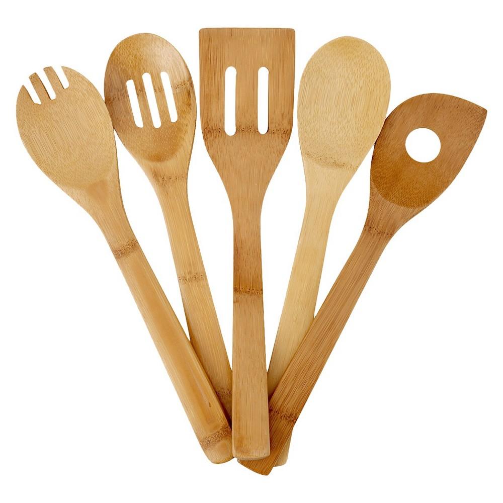 Image of Good Cook Bamboo Tool Set - 5 piece