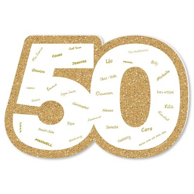 Big Dot of Happiness We Still Do - 50th Wedding Anniversary - Guest Book Sign - Anniversary Party Guestbook Alternative - Signature Mat
