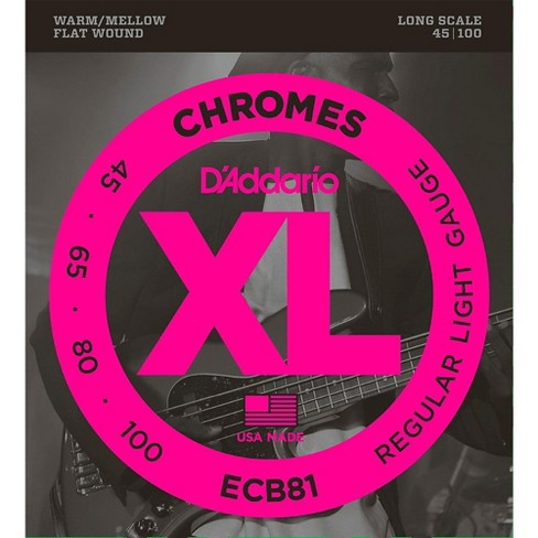 D'Addario ECB81 XL Chromes Flatwound Bass Strings - image 1 of 1