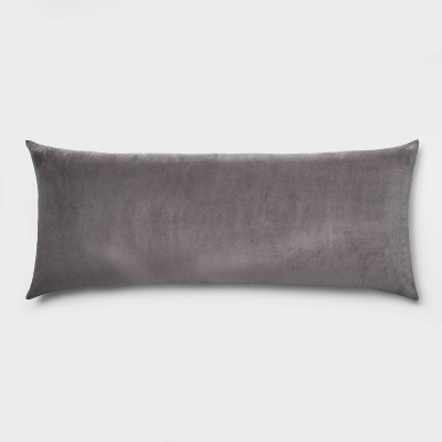 Microplush Body Pillow Light Gray - Room Essentials™