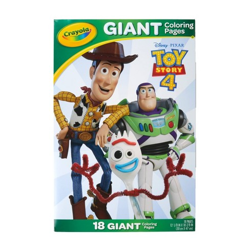 Crayola 18pg Disney Toy Story 4 Giant Coloring Pages Target
