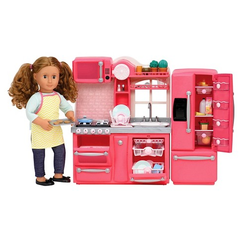 Our Generation Gourmet Kitchen Accessory Set Pink