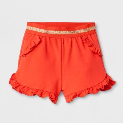 Baby Girls' Trouser Shorts - Cat & Jack™ Orange Newborn