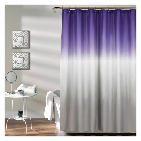 Lush Decor Ombre Design Shower Curtain Purple Target