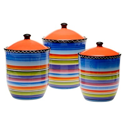 Certified International Tequila Sunrise Canisters Set of 3