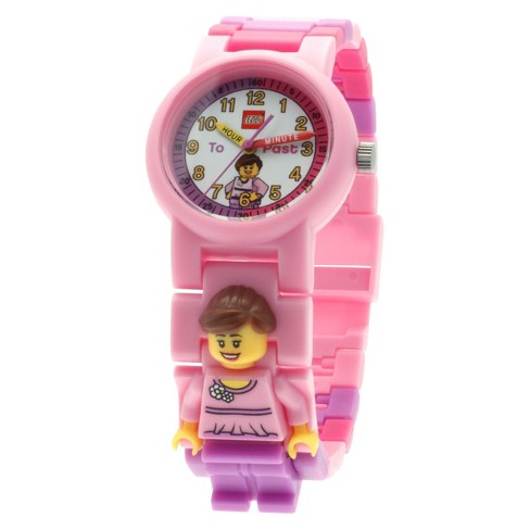 LEGO® Time Teach Set with Minifigure-Link Watch, Constructible Clock and Activity Cards - Pink - image 1 of 4