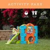 ECR4Kids Activity Park Playhouse for Kids, Indoor Outdoor Play House with Slide or Climb Stairs - image 3 of 4