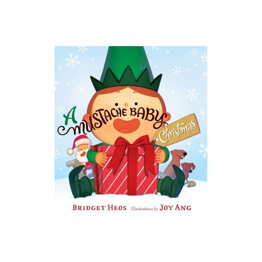 A Mustache Baby Christmas By Bridget Heos Board Book