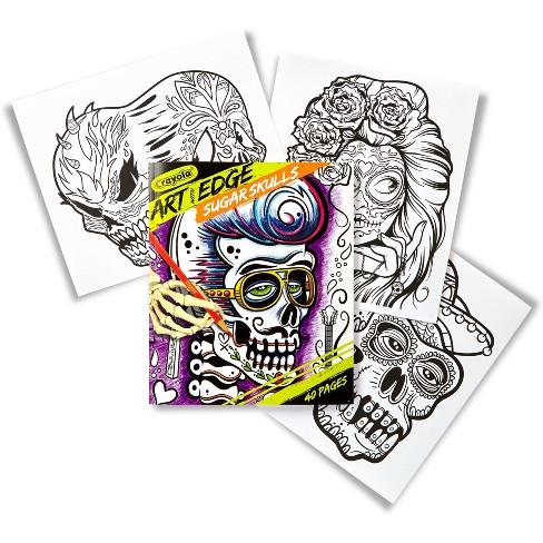 Crayola Art With Edge Sugar Skulls Coloring Book Target