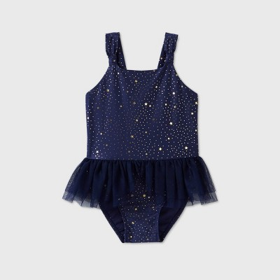 Toddler Girls' Star with Tutu One Piece Swimsuit - Cat & Jack™ Navy