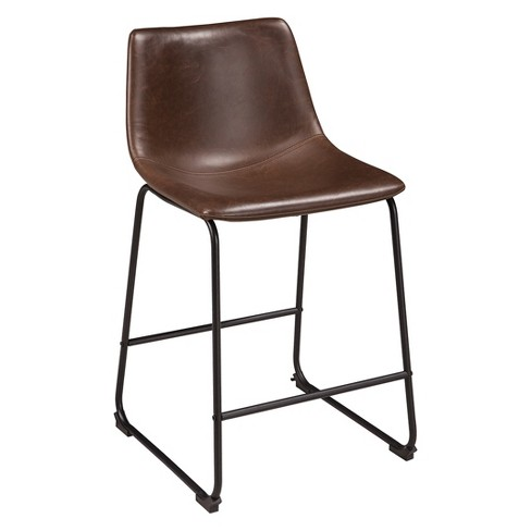 Centiar Upholstered Barstool Brown Black Signature Design By Ashley