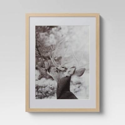 "12"" x 16"" Reindeer Framed Print - Threshold™"