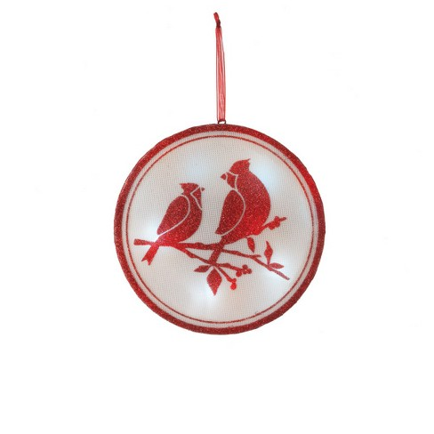 "Ganz 6"" Glittered Illuminated Cardinal Christmas Ornament - Red - image 1 of 1"