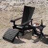 Manhattan Beach Adirondack Patio Chair with Side Table, Ottoman & Wine Glass Holder - highwood - image 2 of 4