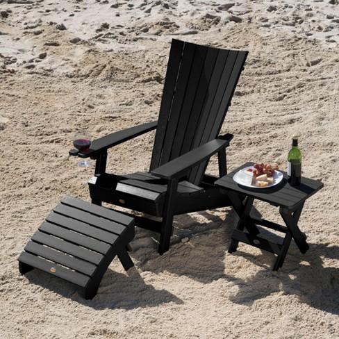 Manhattan Beach Adirondack Chair With Wine Glass Holder Folding