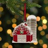 """Northlight 3.5"""" Red and White Barn House with Crystals Christmas Ornament - image 2 of 4"""