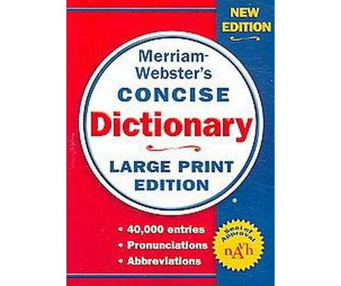 Merriam-webster's Concise Dictionary (Large Print) (Paperback) - image 1 of 1