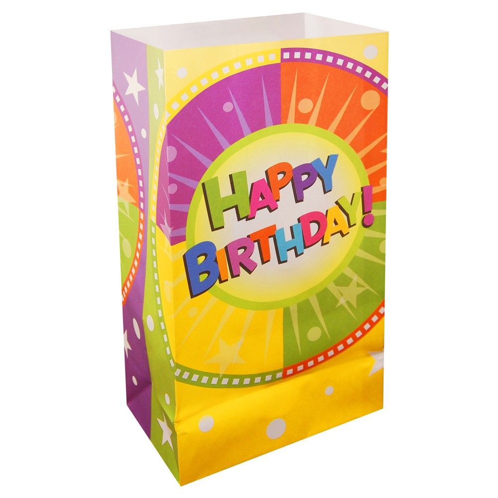 24ct Happy Birthday Luminaria Bag Promos