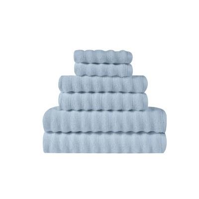 6pc Zero Twist Bath Towel Set Light Blue - Truly Soft
