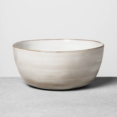 Large Stoneware Reactive Glaze Serve Bowl Gray - Hearth & Hand™ with Magnolia