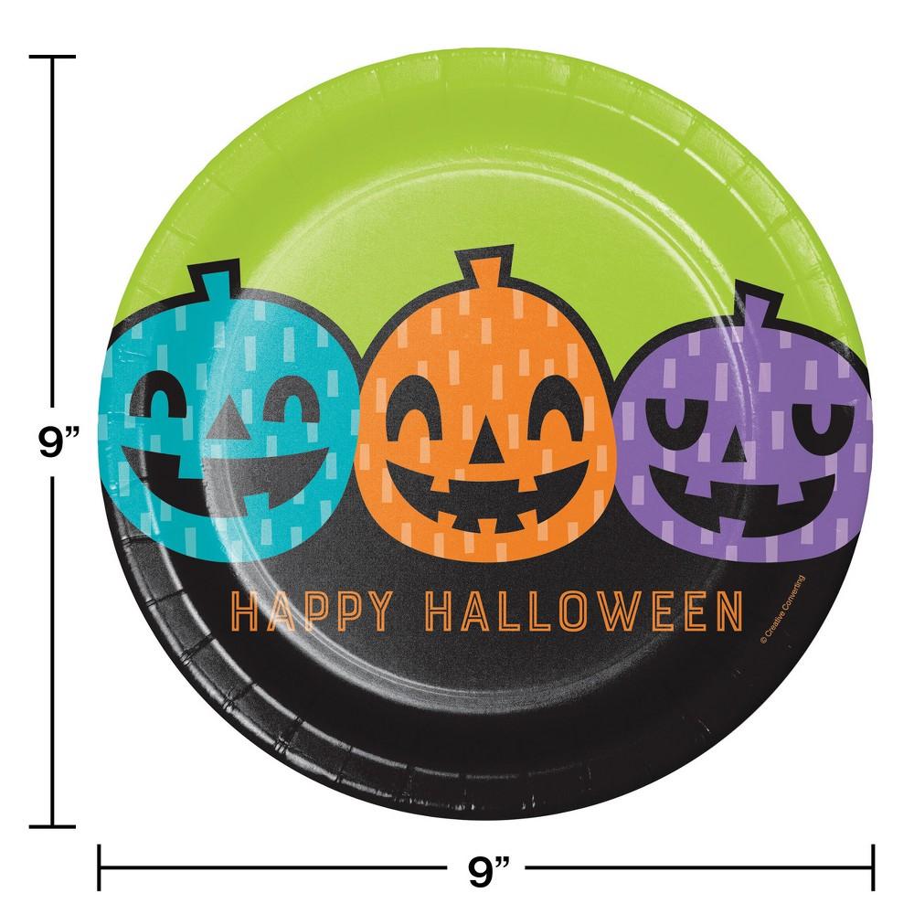 Playful Pumpkins Paper Plates