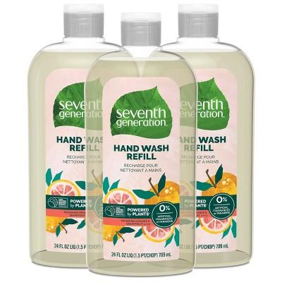 Seventh Generation Hand Wash Refill - Mandarin Orange & Grapefruit - 3pk/72 fl oz