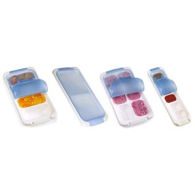PrepWorks Dishwasher Safe Food Storage Freezer Pod Tray with Lid 4 Piece Set