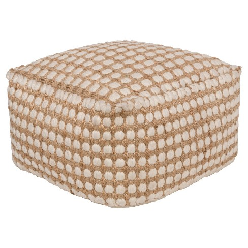 "White Yiso Woven Ottomans (20""x20""x12"") - Surya - image 1 of 1"