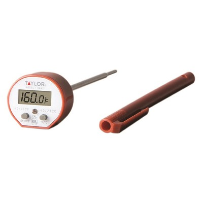 Taylor High Temperature Commercial Waterproof Instant Read Digital Pocket Thermometer