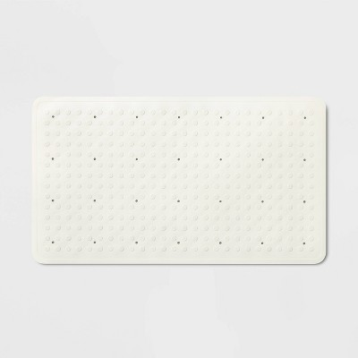 28 x16  Rubber Bath Mat White - Made By Design™