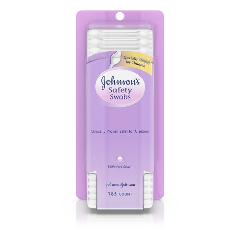 Johnson's Baby Safety Ear Swabs - 185ct - image 1 of 4