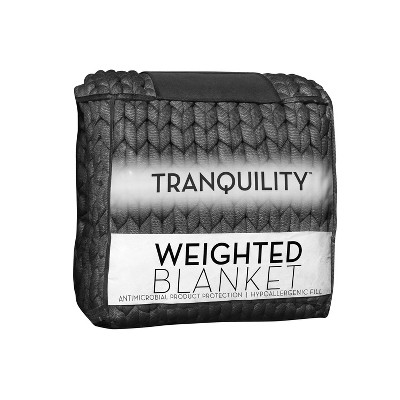 """48"""" x 72"""" 12lbs Chunky Knit Weighted Blanket - Tranquility"""