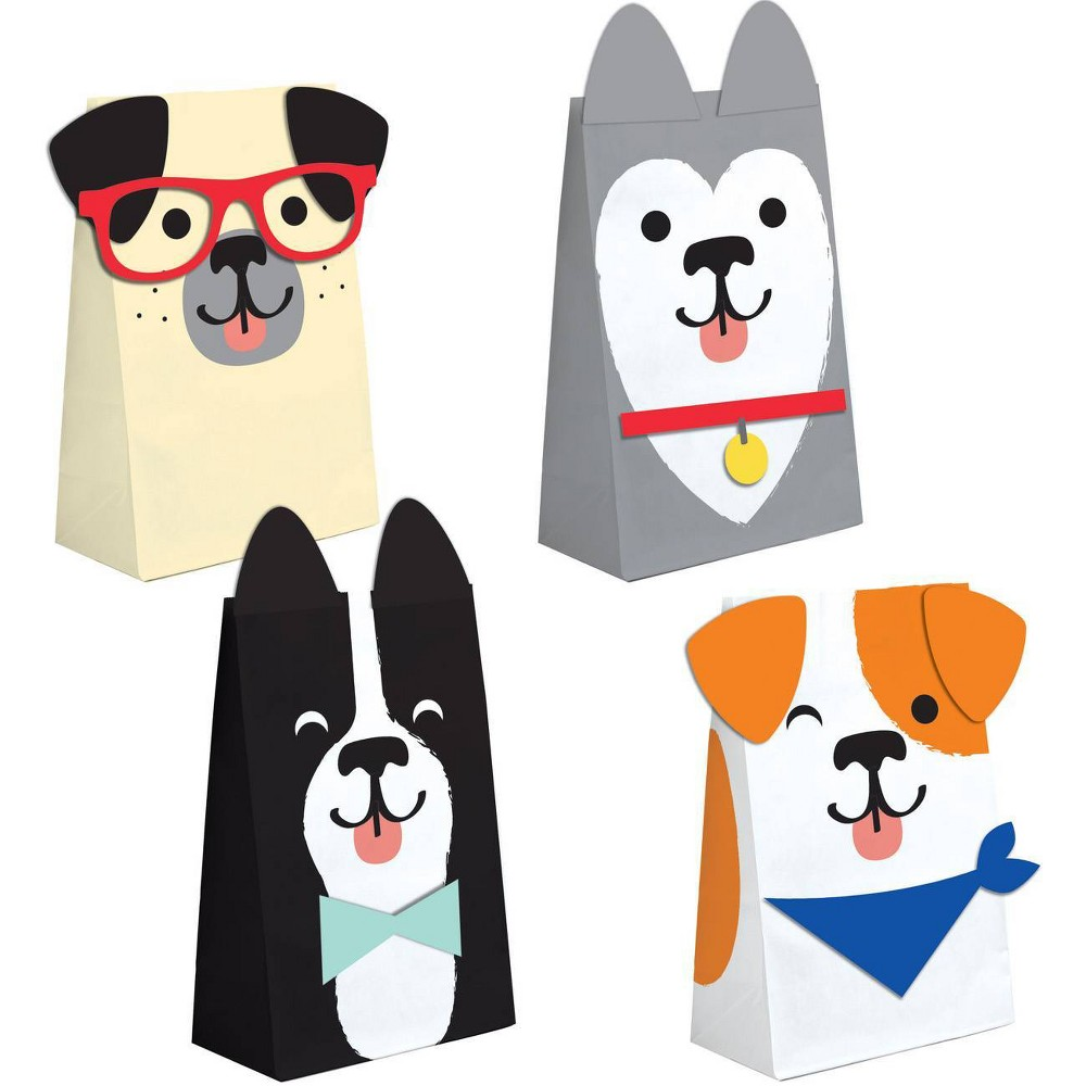Image of 8ct Dog Print Party Favor Bags