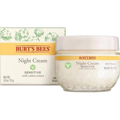 Burt's Bees Night Cream for Sensitive Skin - 1.8oz