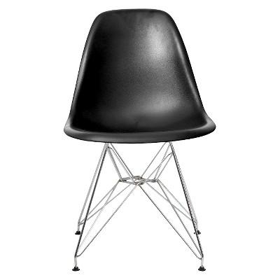 Set of 2 Paris Molded Plastic Chair Black - AEON