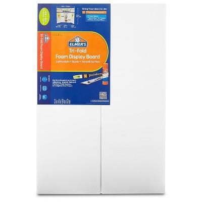 "Elmer's 36"" x 48"" Tri-Fold Foam Presentation Board White"