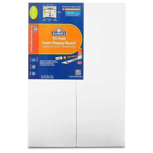 "Elmer's 36"" x 48"" Tri-Fold Foam Presentation Board White - image 1 of 3"