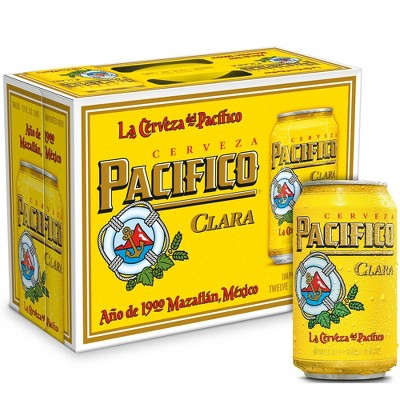 Pacifico Clara Mexican Lager Beer - 12pk/12 fl oz Cans