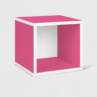 Way Basics Stackable Eco Cube Storage Cubby Organizer - Pink