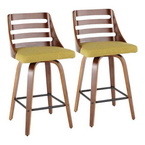 Set of 2 Trevi Mid-Century Modern Counter Height Barstool - LumiSource - image 1 of 4