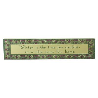 "Roman 22"" Purple and Green Winter Themed Rectangular Sign Board"