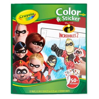 Incredibles 2 Color & Sticker Activity - Crayola