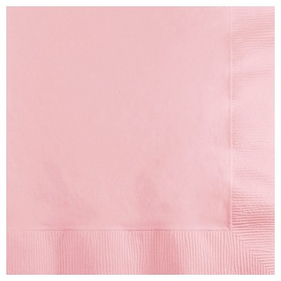 50ct. Classic Pink Cocktail Beverage Napkins